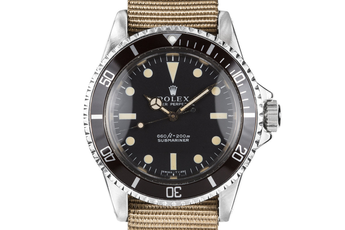 1970 Rolex Submariner 5513 with Serif Dial photo, #0