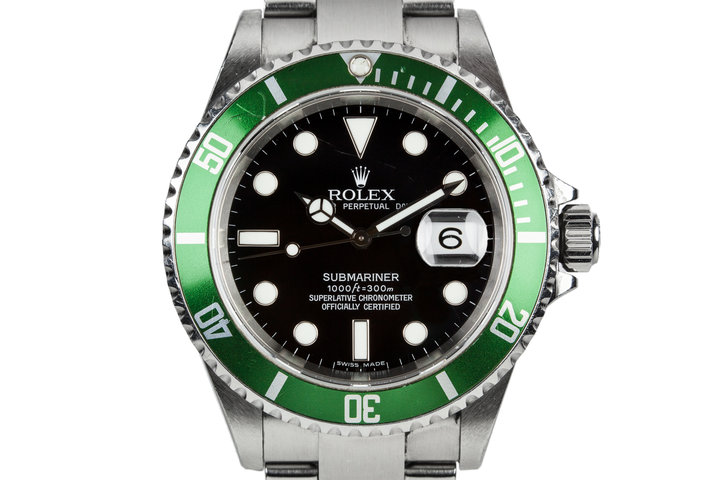 2006 Rolex Submariner 16610LV with Green Bezel Insert photo