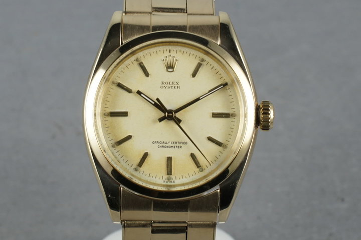 1957 Rolex Oyster 6422 with 14K Riveted Stretch Band photo