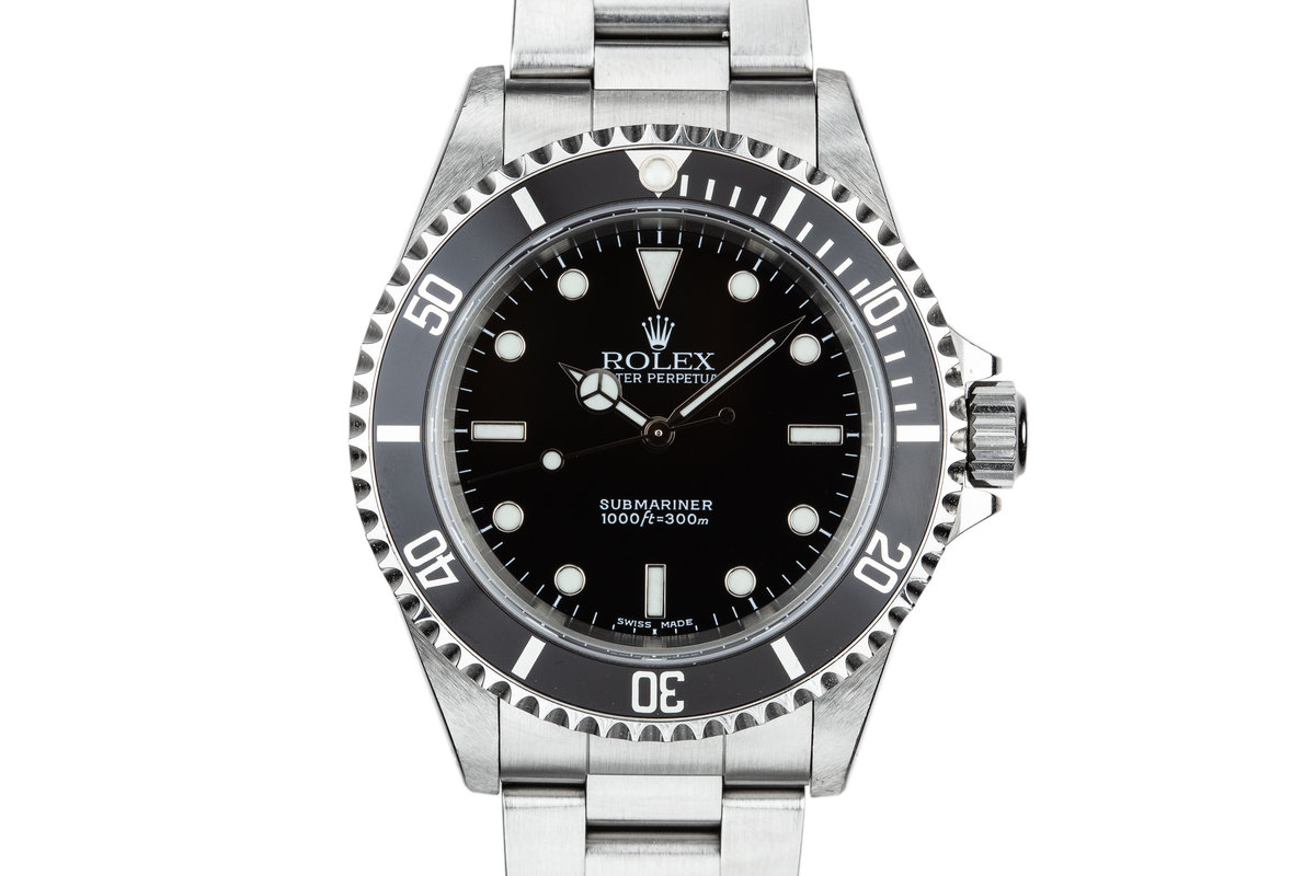2001 Rolex Submariner 14060M with Box and Papers photo, #0