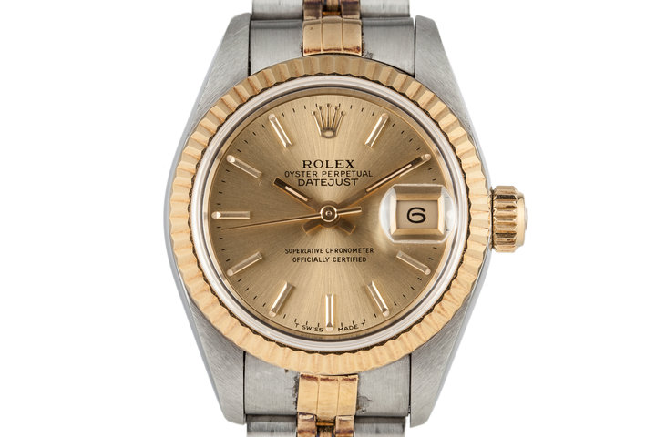 1995 Rolex Ladies Two Tone DateJust 69173 with Box and Papers photo