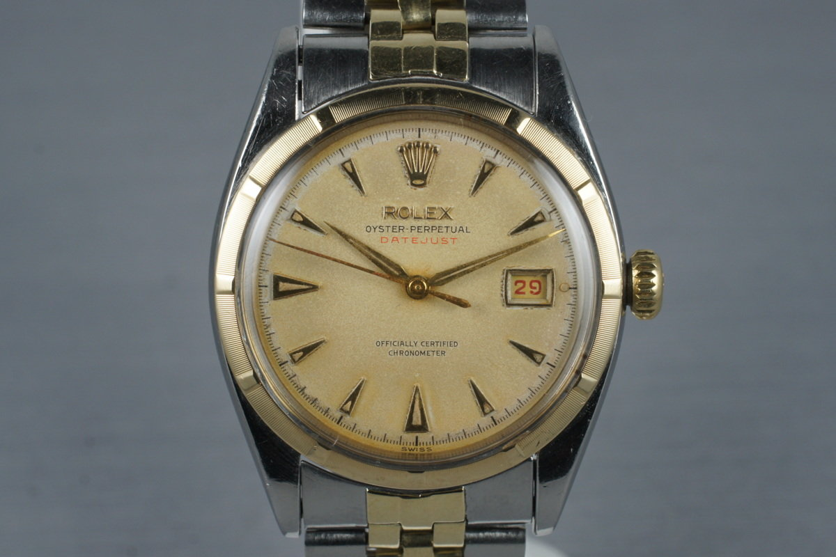 1953 Rolex Two Tone Datejust 6155 with Red Datejust Dial photo, #0