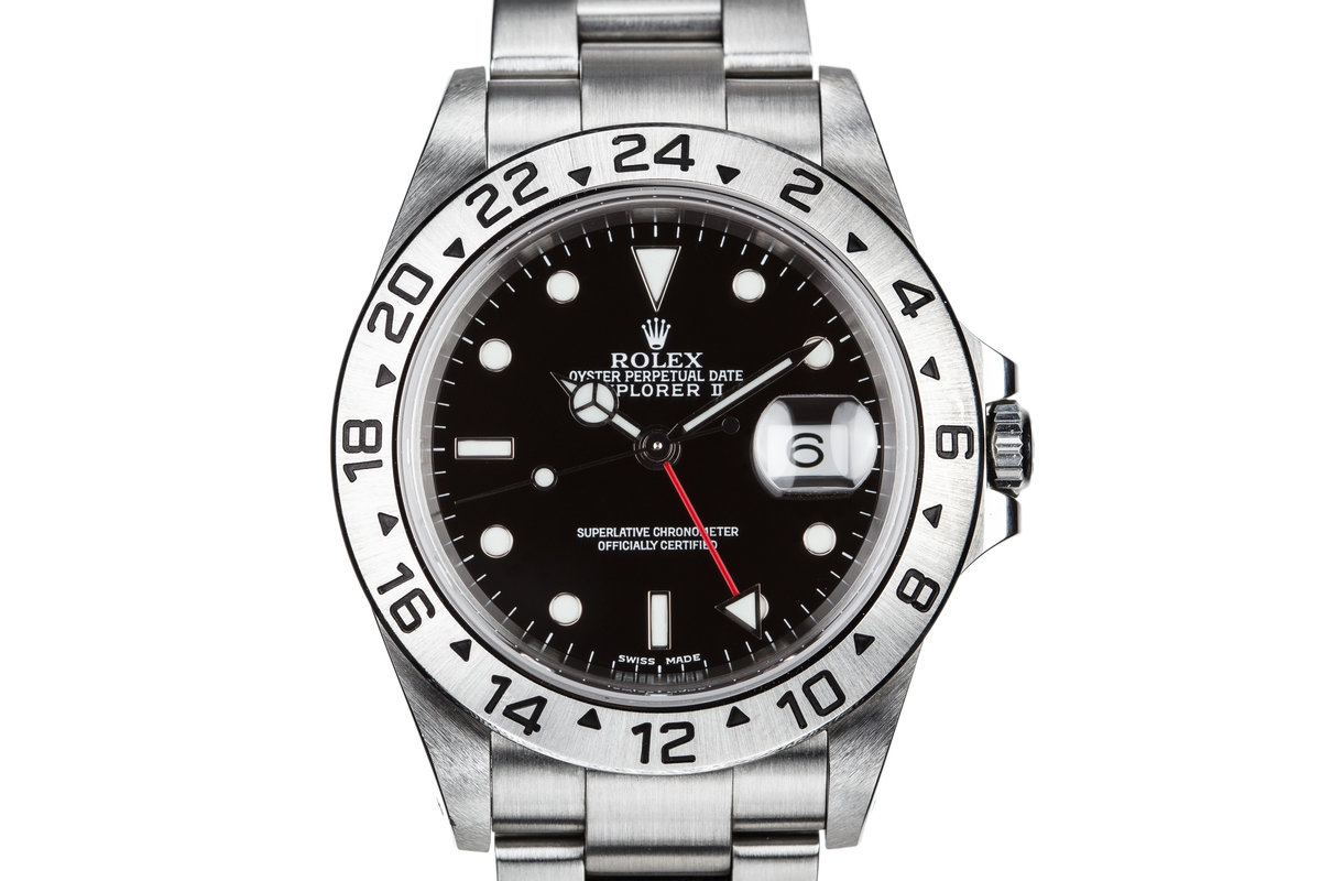 2001 Rolex Explorer II 16570 Black Dial with Box and Papers photo, #0