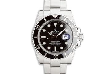 Mint Unworn Full Stickers 2020 Rolex Ceramic Submariner 116610LN with Box and Card photo
