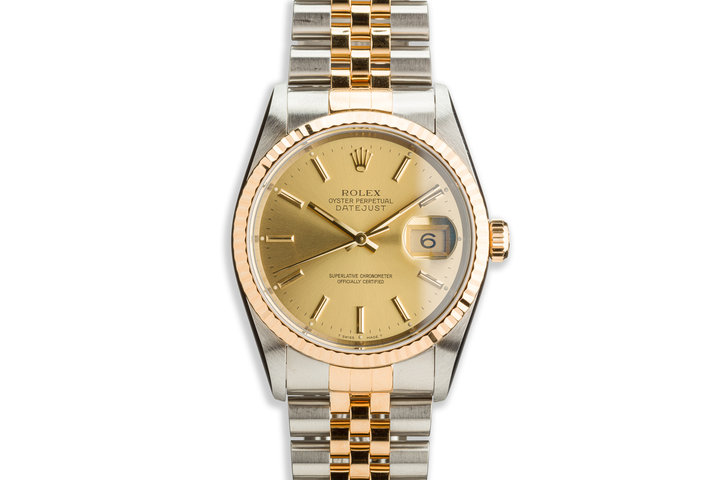 1995 Rolex Two-Tone DateJust 16233 with Service Card photo