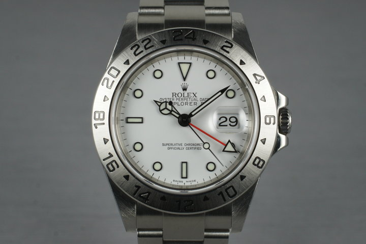 2006 Rolex Explorer II 16570T with White Dial photo