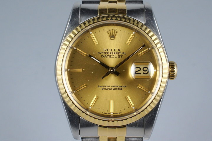 1988 Rolex Two Tone DateJust 16233 with Box and Papers photo