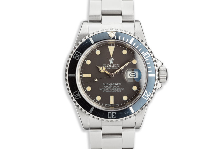1981 Vintage Rolex Submariner 16800 with Matte Dial photo