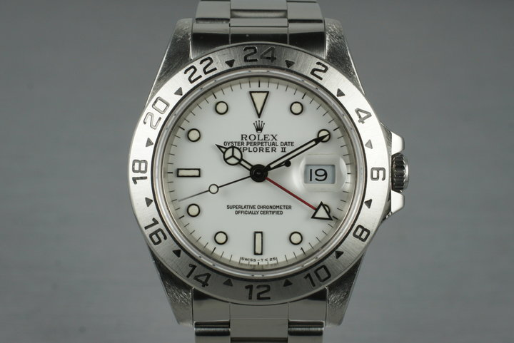 1991 Rolex Explorer II 16570 with White Dial photo
