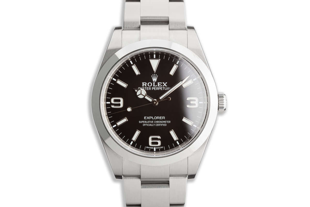2019 Rolex Explorer 214270 39mm Mark II Dial with Box and Card photo, #0