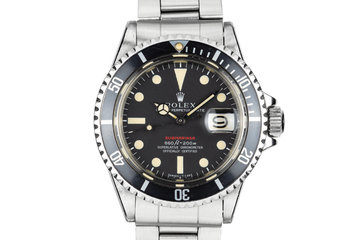 1970 Rolex Red Submariner 1680 with MK V Dial photo
