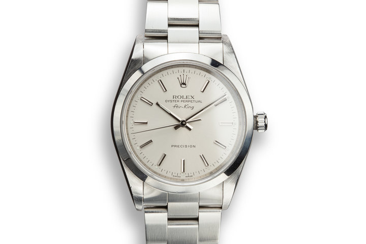 1999 Rolex Air-King 14000 Silver Dial photo