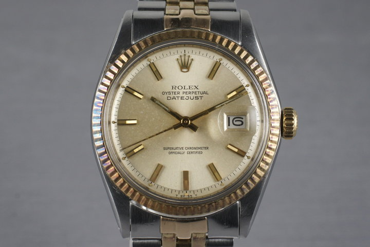 1970 Rolex Two Tone DateJust 1601 with Silver Dial photo