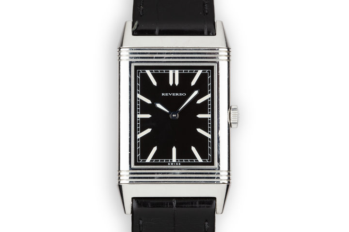 Jaeger LeCoultre Reverso 277.8.62 Black Dial with Box photo