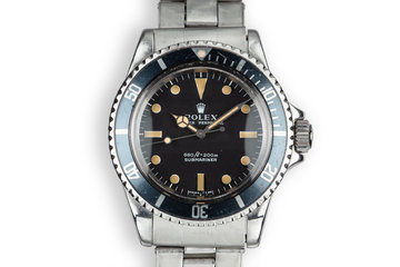 1973 Rolex Submariner 5513 Serif Dial photo
