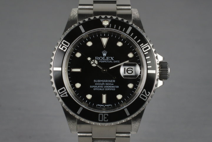 2006 Rolex Submariner 16610T with Box and Papers photo
