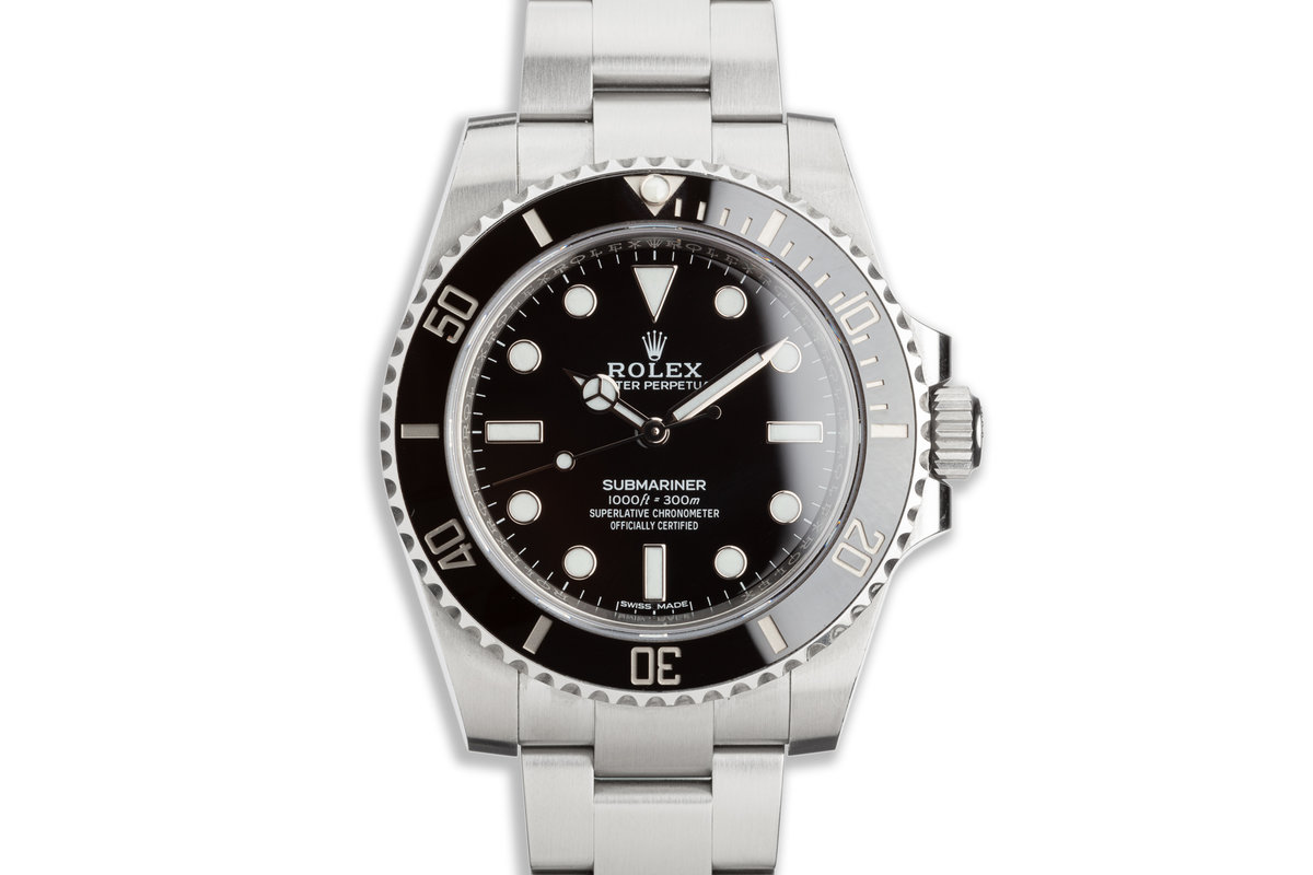2018 Rolex Submariner No-Date 114060 with Box & Card photo, #0