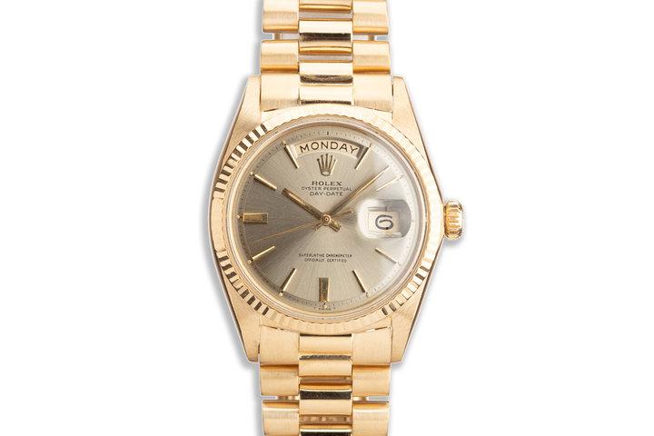 1967 18K YG Vintage Rolex Day-Date 1803 Grey Dial photo