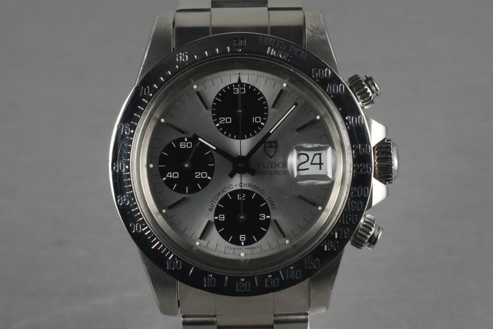 Tudor Chronograph Big Block 79180 With Silver Dial photo