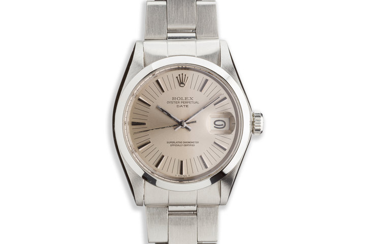 1972 Vintage Rolex Date 1500 Silver Dial photo