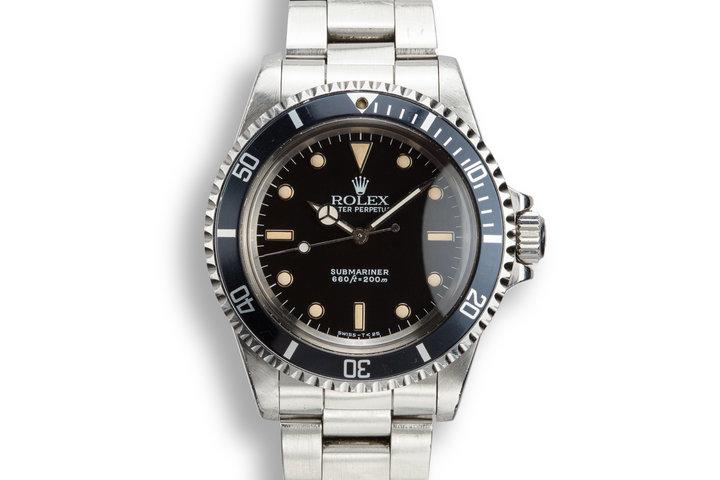 """1988 Rolex Submariner 5513 """"R serial"""" photo"""