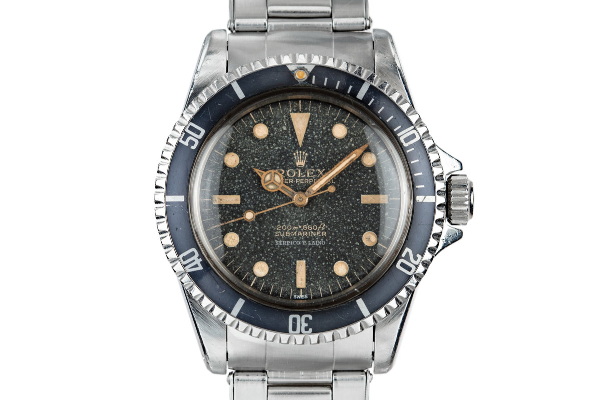 1963 Rolex Submariner 5513 SERPICO Y LAINO SWISS Only Gilt Dial photo, #0