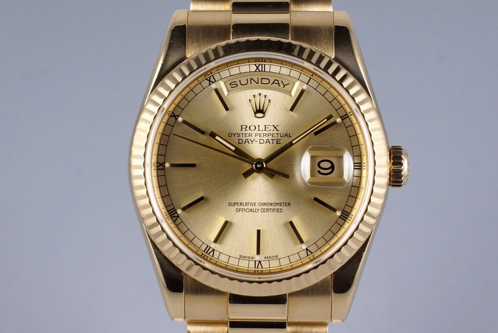 2004 Rolex YG Day-Date 118238 Champagne Dial photo