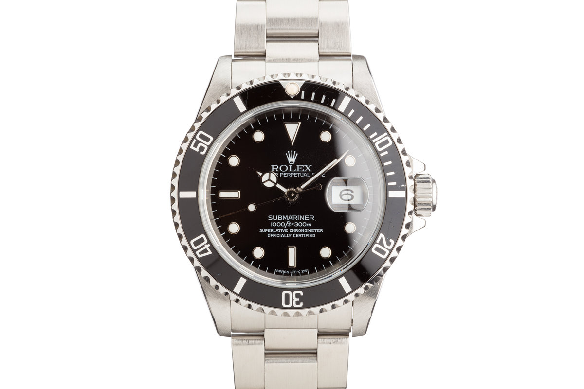 1996 Rolex Submariner 16610 with Box and Papers photo, #0