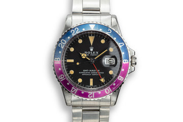 "1972 Rolex GMT-Master 1675 ""Fuchsia"" with Box and Papers photo"