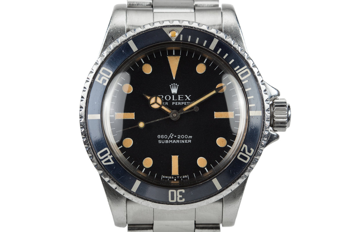 1975 Rolex Submariner 5513 with Serif Dial with Service Papers photo, #0