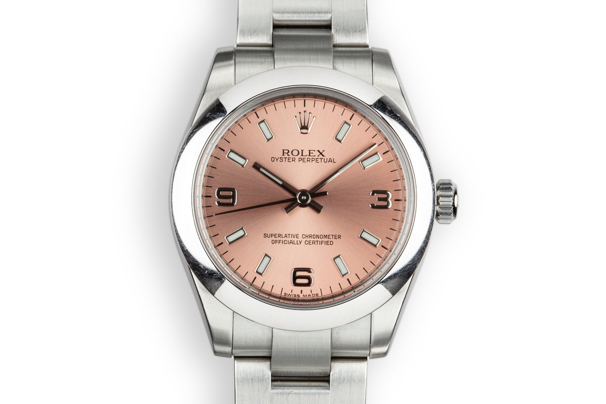 2007 Rolex Mid Size Oyster Perpetual 177200 Salmon Dial photo, #0