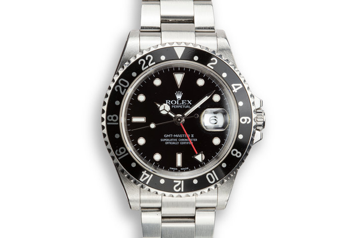 2002 Rolex GMT-Master II 16710 Black Bezel photo