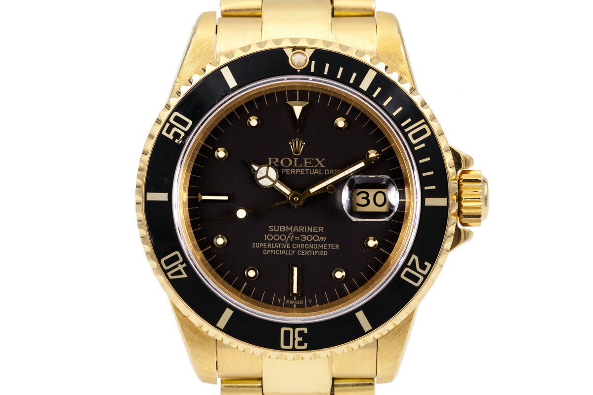 1982 Rolex YG Submariner 16808 Black Nipple Dial photo, #0
