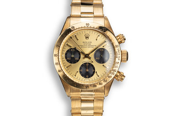 1978 Rolex 18K YG Daytona 6265 with Gold Dial from the Original Owner photo