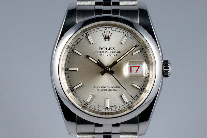 2005 Rolex Datejust 116200 Silver Dial photo
