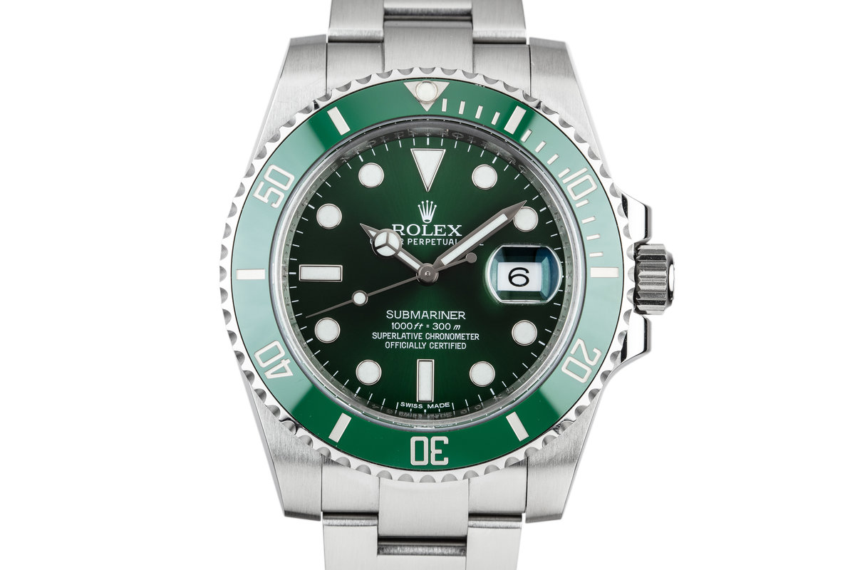 "2014 Rolex Green Submariner 116610LV ""Hulk"" With Box and Papers photo, #0"