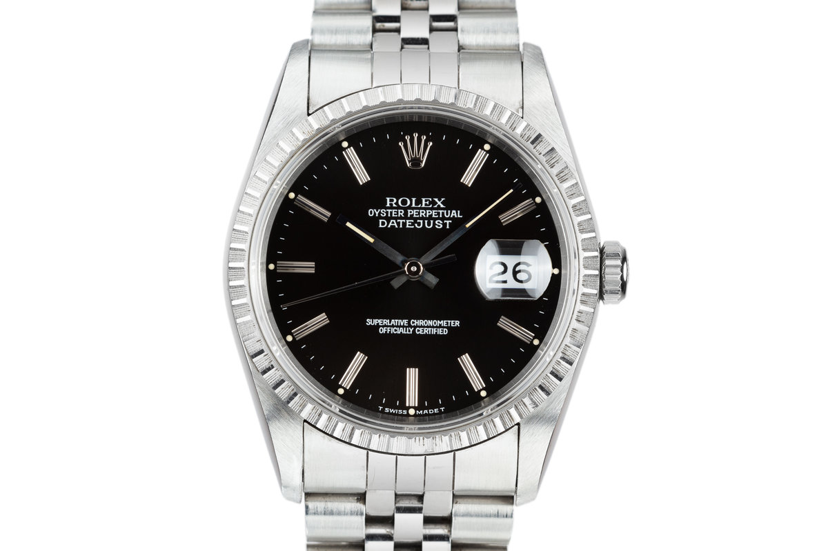 2002 Rolex DateJust 16220 Black Dial photo, #0