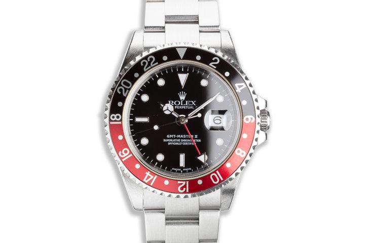 "2002 Rolex GMT-Master II 16710 ""Coke"" Bezel Box & Papers photo"