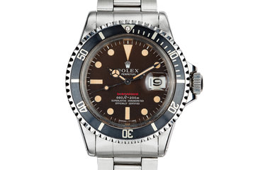 1971 Rolex Red Submariner 1680 with MK IV Tropical Dial photo
