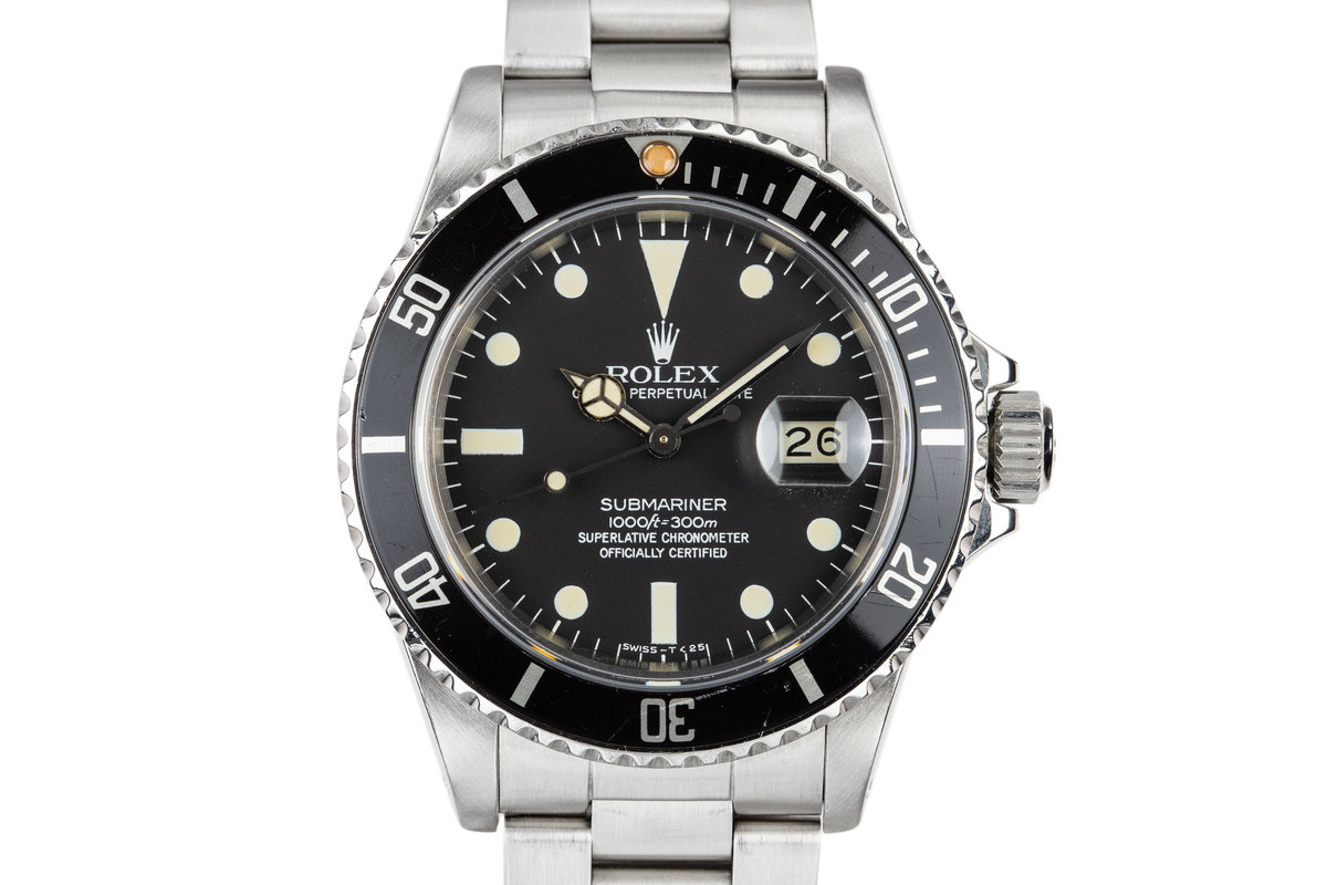 1983 Rolex Submariner 16800 Matte Dial photo, #0