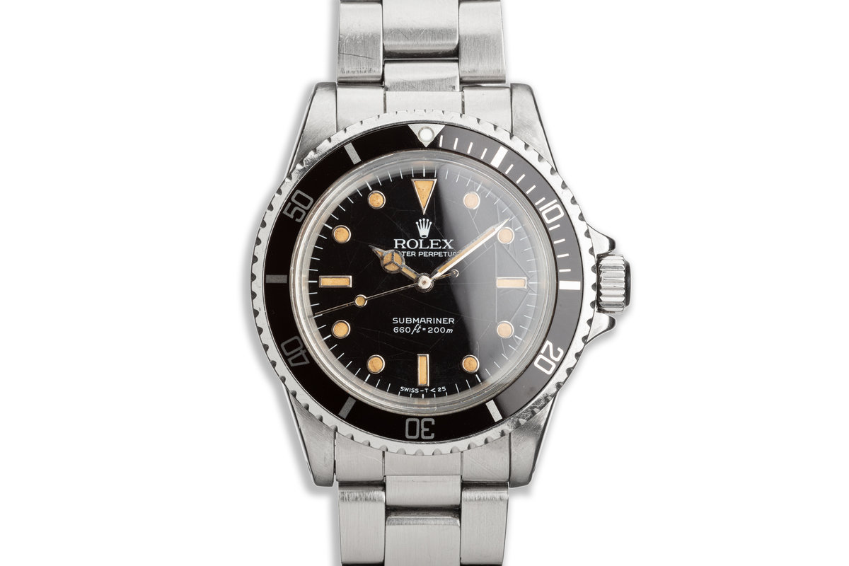 """1986 Vintage Rolex Submariner 5513 with Glossy """"Spider"""" Dial photo, #0"""