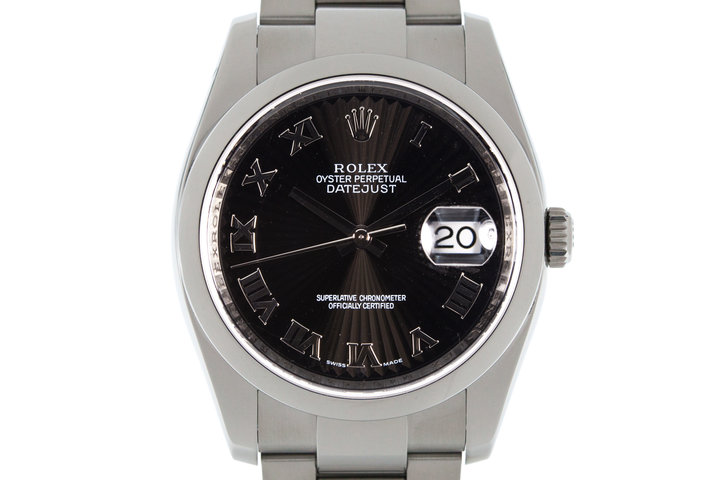 Rolex Datejust 116200 Black Sunburst Dial photo