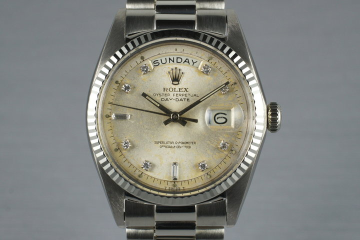 1969 Rolex 18K White Gold Day-Date 1803 with Factory Diamond Dial photo