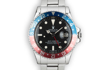 "1977 Rolex GMT-Master 1675 ""Pepsi"" with Box, Papers, and Service Papers photo"