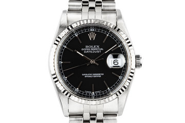 1997 Rolex DateJust 16234 Black Dial photo