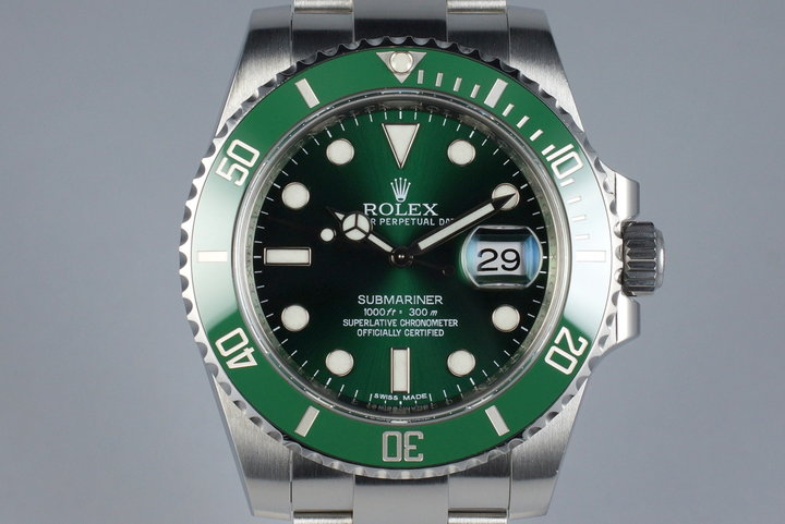 2011 Rolex Green Submariner 116610LV with Box and Papers photo