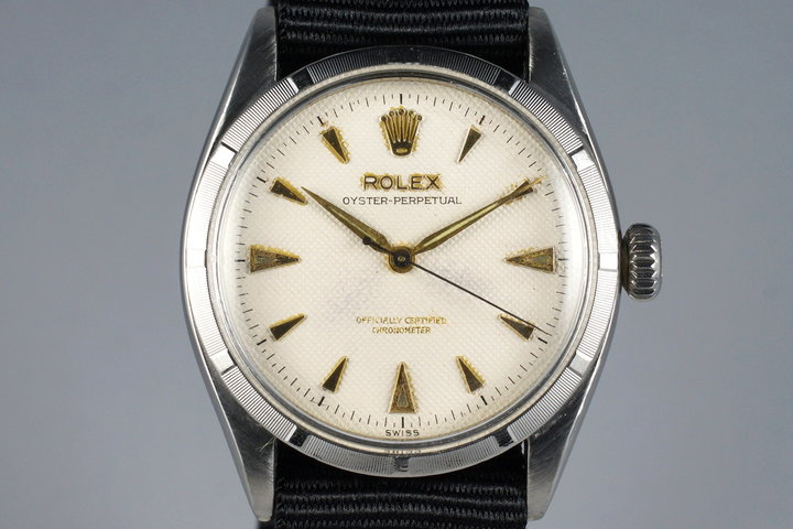 1954 Rolex Oyster Perpetual 6285 Cream Waffle Dial photo