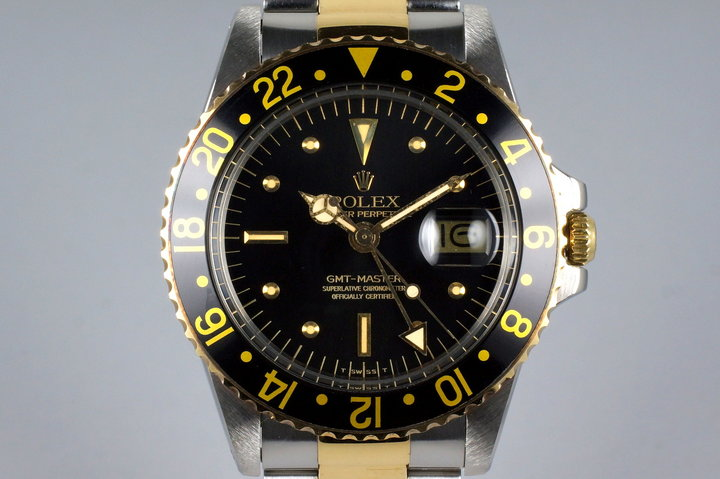 1977 Rolex Two Tone GMT 1675 Black Nipple Dial photo