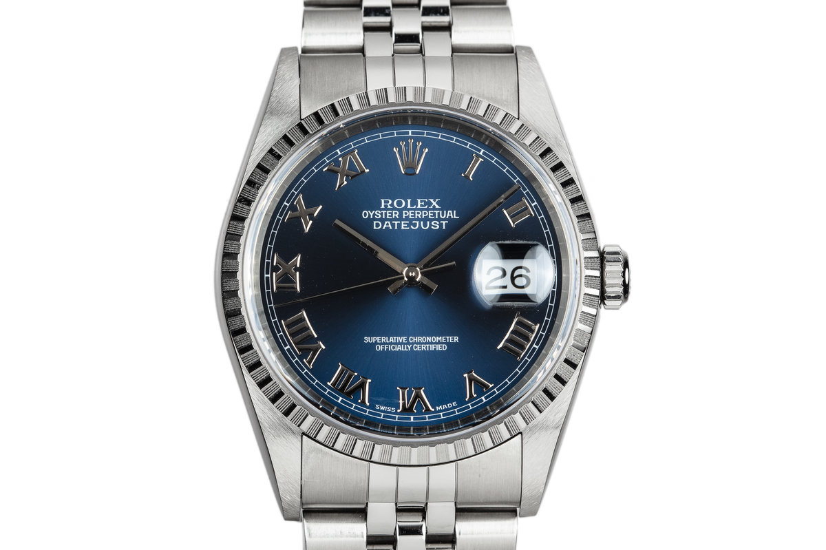1999 Rolex DateJust 16220 Blue Dial photo, #0