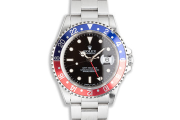"""1993 Rolex GMT-Master 16700 """"Pepsi"""" with Box & Papers photo"""
